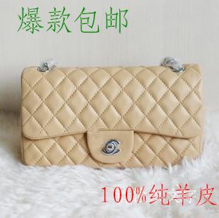 Summer small women's handbag sheepskin 2.55 plaid c chain messenger bag 1112 1113(China (Mainland))