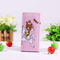 lady wallet Rilakkuma Purse Coin Wallet bag card holder bear wallets PU leather Bags Dropshipping
