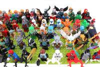Wholesale High Quality No box Ninja Super Hero Ironman Batman Chima Mini Figure 50pcs/lot Children Building Blocks Free Ship