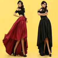 Bossy lady2014 Summer Fashion Elegant Slim Waist Three-dimensional Cut Dovetail half-skirt Full Long Skirt Party Evening S M