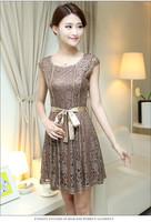 2014 lace elegant fashion elegant plus size clothing chiffon one-piece dress