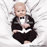 2014 Fashion Baby Boys Cotton Bodysuits Newborn Bebe Climb infant Gentleman Modelling Children Clothing Long Sleeve Kids Outwear