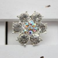 2.5cm flat back crystal brooch for invitation cards,shining rhinestone button ,pearl button decoration for wedding