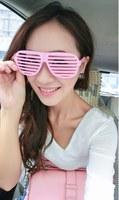Wholesale Fashion Hip Hop Shutter Shades Glasses Women Men Unisex Sunglasses for Rave Party Bars