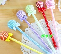 NEW Hot sale Promotional gifts South Korea stationery Lovely lollipop Students Ball-point pen 288PC/LOT Wholesale Free Shipping