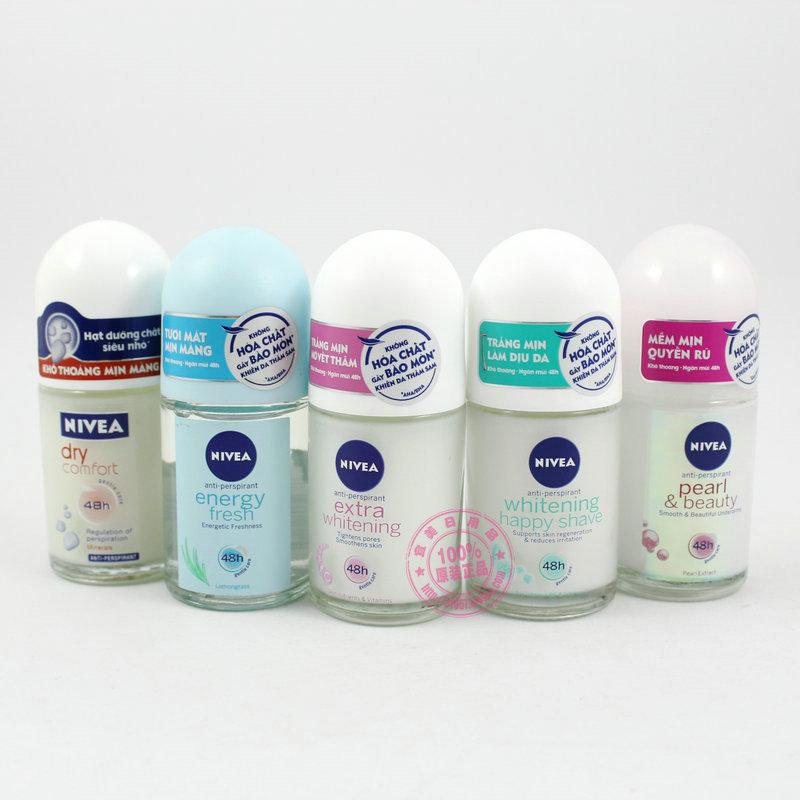 Imported authentic 50ml Nivea Deodorant Roll Women Men Ballpoint liquid antiperspirant deodorant(China (Mainland))