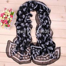 skull print scarf promotion