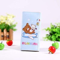 blue wallet Rilakkuma Purse Coin Wallet bag card holder bear wallets PU Bags Dropshipping