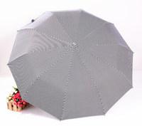 2014 free shipping black pinstripe business automatic umbrella men's women's travel three folding umbrella Rechar019