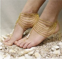 Sexy Gold or Silver Ankle Chain Pearl Body Chains Body Jewelry Accessory Anklet Cuff Ankle Bracelet