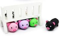4 Color Pink/Green/ Black/Purple Cute pig model USB 2.0  Memory Stick Flash pen Drive memory flash card pen drive 1GB to 32GB