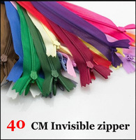 Free shipping! invisible zipper 40CM Skirt Dress back cushion Zipper 3# Mix Color 100pcs/lot DIY Manual Garment accessories