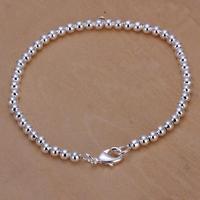 H198 Free Shipping Wholesale 925 silver bracelet, 925 silver fashion jewelry 4mm Bean Bracelet / bqvakicasz