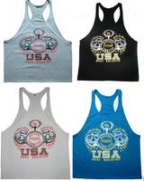 New 2014 men sport NPC  gym slim top tank Bodybuilding Cotton Vest Power  Golds Gym Tank top T-Shirt gasp Sport