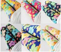 Summer 2014 Women's New Korean Fashion Colorful Printed Silk Pant Milk Silk