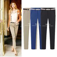 Fashion 2014 OL slim pants pencil pants casual long career capris trousers, office pants for women S M L XL XXL  QY8056