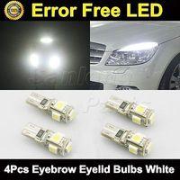 4x White Error Free Eyebrow Eyelid Light LED Bulb Mercedes Benz W204 C300 C350