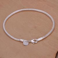 H187 Free Shipping Wholesale 925 silver bracelet, 925 silver fashion jewelry 3mm Snake Bone Bracelet / bqmakhtasz