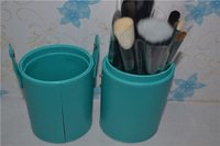 Hotselling!!!brand 12pcs green cylinder makeup brush set natural wool Free shipping