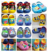 Hot-Sale 3D Croc-Shoes Kids Unisex Summer Slipper Spongebob/green giant/Small yellow horn US Size C6/7-C12/13-J1-J3