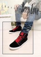 New winter men's Korean version of the simple wild suede leather high-top shoes with high quality men's shoes tide shoes