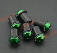 6 PCS Green Windscreen Screws Bolts for Kawasaki NINJA 250R ZX6R  9R 10R 12R 14R