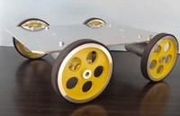 Intelligent car 3540 motor 95 aluminum wheel aluminum chassis robot car