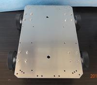 Intelligent car 3540 motor 65 aluminum wheel aluminum chassis robot car