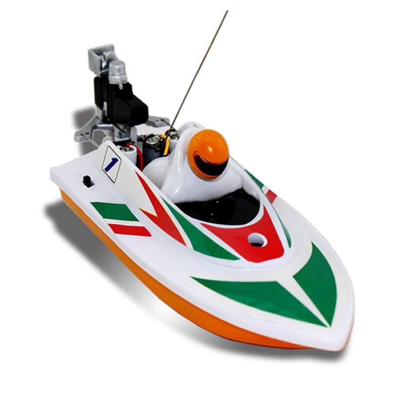 Cool Radio Remote Control RC Mini Racing Speed Boat color random(China (Mainland))