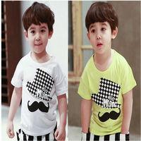 New Hot Children T Shirt Short Sleeve Boy Summer T Shirt Kid Cotton T Shirt England Style Baby T Shirt Fit 3-7Yrs Free Shipping