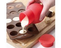 2015 Real Silicone Eco-friendly Baking Tools for Cakes Cake Tools free Shipping- New!!silicone Chocolate Melting Pot - Brand New