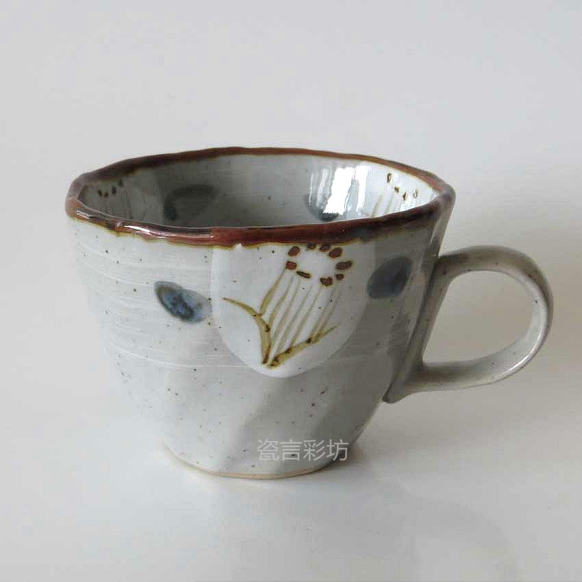 Classic rustic ceramic Mugs cup japanese hand-painted style beer   Tea    Japanese Ceramic Mugs