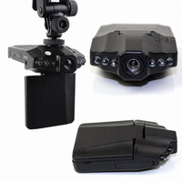 H198 Car DVR with 2.5 Inch 270 Degree Rotated Screen, 6 IR LED Night Vision Vehicle Black Box Camera Free Shipping