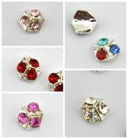 nail decoration rhinestones studs 5 colors design  new  2014 design  3D nail art decoration  mixed batch free shipping