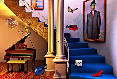 Hedendaags surrealisme promotie winkel voor promoties hedendaags surrealisme op - Moderne kamer volwassen schilderij ...