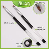 BQAN Crystal Rhinestone Handle Pure Kolinsky Nail Brushes