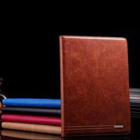 For iPad Mini Luxury Retro Business Card Genuine Leather Case Foldable Stand Smart Cover Case for iPad Mini Free Shipping