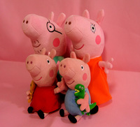2014Big Promotion/Peppa Pig Family Plush/4pcs/Classic Baby Toys For Boy Girl/High Quality Brand/Free Shipping