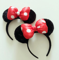Free shipping Minnie Mouse Ears Headband for girl Women vivid  bowknot sweety x154