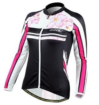 2014 bicicleta feminina camisa esporte mangas wicking tecido respirável Equipe Jersey em de ciclista Mujeres bike.size : XXS - 6xl(China (Mainland))