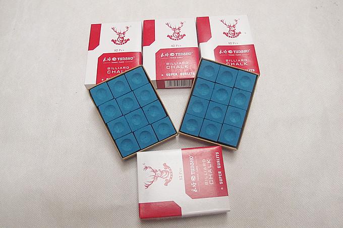 12pcs snooker billiard chalk powder billiard pool cue chalk accessories(China (Mainland))