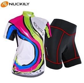 Frete grátis! Rock 2013 ms arco-íris manga curta ciclismo camisola e shorts/feminino engrenagem da bicicleta. Tamanho: xxs ~ 6 xl.(China (Mainland))