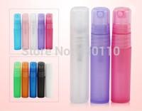 2014 Hot selling 10 colors Candy color 5ml plastic mini perfume bottles 100pcs/lot