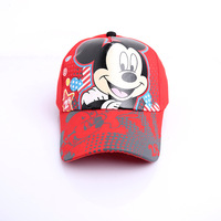 Retail New 2015  boys girls  spring and summer children hat baseball cap Cartoon Mickey Minnie mouse Caps Kids sun Hats