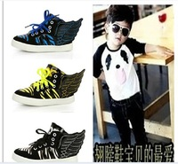 The spring of 2014 han edition of the new children's shoes angel wings paint girls boy sneakers