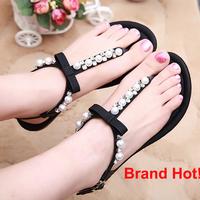 Top Brand Famous Designer 2014 New Hot Women Sandals Flat Flip Flops Comfortable Sapatos Feminino Lady Sandal Shoes Soft Leather