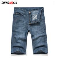 Free shippin short men jeans cheap wholesale Summer thin male denim shorts male trend knee-length pants male trousers fashion