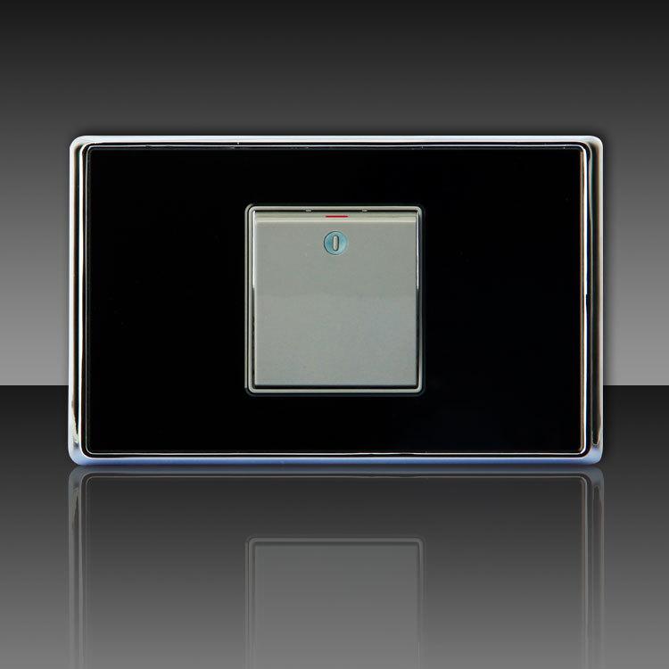 Shidun frete grátis 18 interruptor do painel tomada k91001 acrílico cristal abriu o único controle da tela de toque Wall Light Chave(China (Mainland))