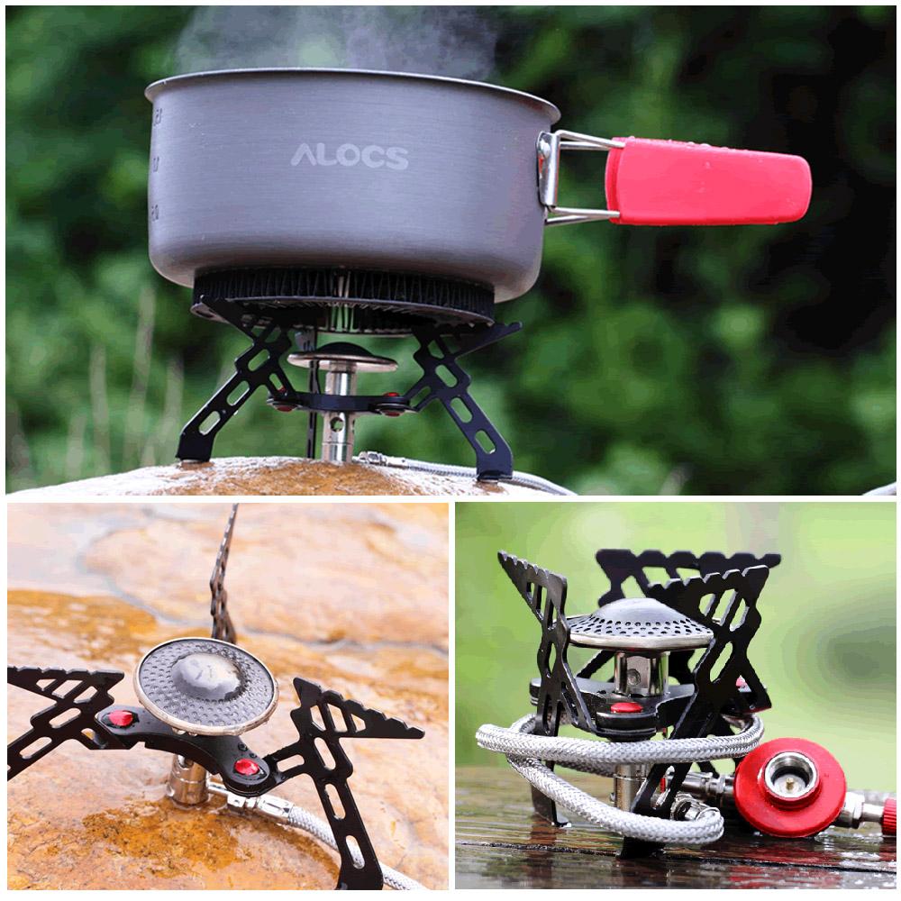 Alocs CS-G05 Outdoor Picnic Gas Burner Folding Lightweight Stove Phenix Split Portable BBQ Cookware(China (Mainland))