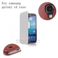 Free Shipping ! 2014 High Quality PU Flip Case For Original Samsung Galaxy S4 i9500